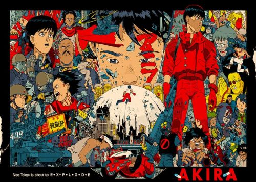 AKIRA - MURAL POSTER ART - Landscape canvas print - self adhesive poster - photo print